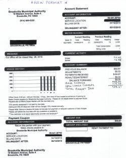 BMA Bill Example - New Format
